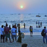 2012 год. Индия. Закат у моря. :: Владимир Шибинский
