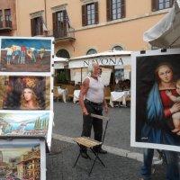 Уличный художник в Риме :: Николаева Наталья