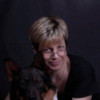 Портрет с собакой. :: юрий