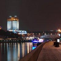 моя столица.ночная москва(набережная москвы реки) :: юрий макаров
