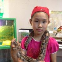 Шарф змейка :: Лиана Монгуш