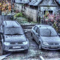 вид из окна на первый снежок :: Владимир Захаров