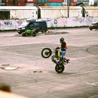 Трюкач на мотоцикле :: Марина Колотаева