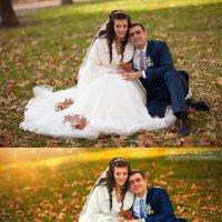 Обработка свадебной фотографии :: Юлия Тягушова