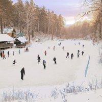 Пейзаж с конькобежцами :: Нина северянка