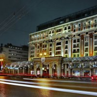 моя столица ночная москва(отель континенталь со стороны тверской улицы) :: юрий макаров