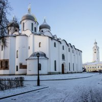 Софийский собор и часозвоня в кремле Великого Новгорода :: Евгений Никифоров