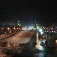 моя Столица ночная Москва(снег) :: юрий макаров