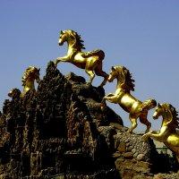 Золотые кони на вершине :: Ирина Сивовол