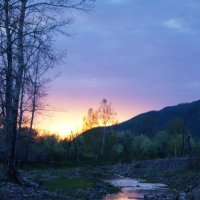 закат весной :: Кристина Воробьева