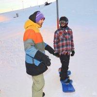 Мерзликин Андрей, тренер молодежной сборной г. Москвы по сноуборду.объясняет ошибки :: юрий макаров
