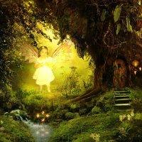 Фея в сказочном лесу. Моя работа :: Юлия Лукомец