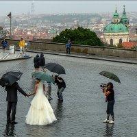 Свадьба в Праге - дождь счастью не помеха! :: Lmark