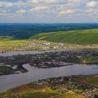 Город Киренск с высоты птичьего полета. :: Nikita Volkov