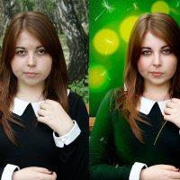 до и после (девушка с одуванчиком) :: Veronika G