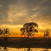 Закат над озером :: Фёдор Поповкин