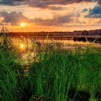 Вечер на озере Селигер :: Александр Остроумов