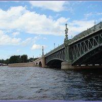 Троицкий мост и река Нева. :: Владимир Гилясев