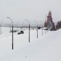Строительство третьего моста через Обь :: Мария Арбузова