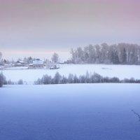Картинка деревенская, зимне-утренняя... :: Александр Никитинский