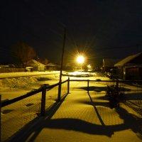 Зимняя ночь в деревне :: Геннадий Ячменев