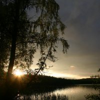 Закат на озере :: Ольга Тимонина
