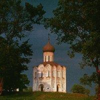 Храм Покрова на Нерли 1973 /скан со слайда/ :: Цветков Виктор Васильевич