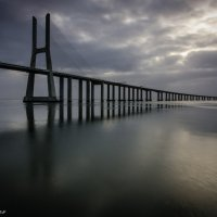 Vasco da Gama Bridge. Lisbon. Portugal :: Yuriy Rogov