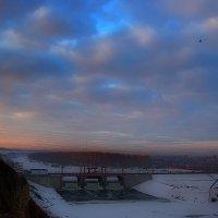 Утро на плотине. :: Kassen Kussulbaev