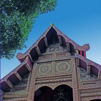 Таиланд. Чанг-Май. Фронтон храма :: Владимир Шибинский