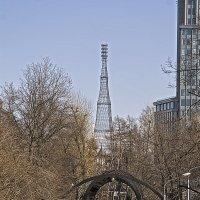 На фоне Шуховской башни... :: Екатерина Рябинина