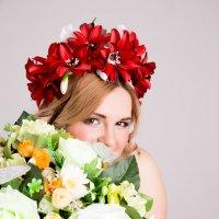 Вика и цветы :: Solomko Karina