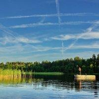Фотосессия на озере :: Валерий Талашов