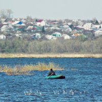 Рыбак в лодке :: лиана алексеева