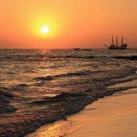 Морской закат :: Светлана Шмелева