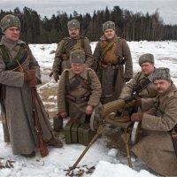 1916. Пулеметный расчет :: Виктор Перякин