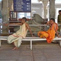 Индия. Храм Шивы в Мурдешваре. Брахманы :: Владимир Шибинский