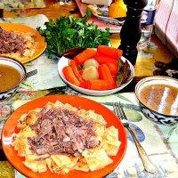 Бешбармак - казахское национальное блюдо. :: Михаил Столяров