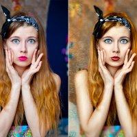 удивленная рыжая бестия (до и после) :: Veronika G