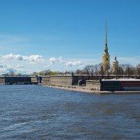 Вид на Петропавловскую крепость с Троицкого моста. :: Anton Lavrentiev