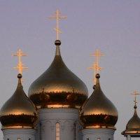 Золотые купола душу мою радуют... :: Гжелка Tanya