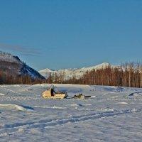 Снегоход. Река Аян-Юрях. Колыма :: Юрий Слюньков