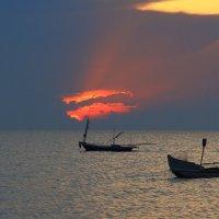 Закат в Сиамском заливе. :: Александр Гризодуб