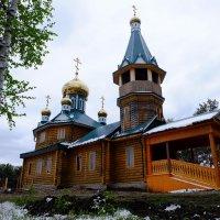Строящийся Вознесенский храм в посёлке Куйтун. :: Rafael