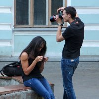 Фотограф на свидании :: Евгений Кривошеев