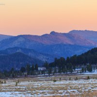 Рассвет на Семинском перевале. Горный Алтай :: Галина Шепелева