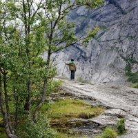 Маленький путник в горах Норвегии :: Николай Танаев