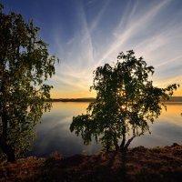 Иртяш на закате. :: Сергей Адигамов