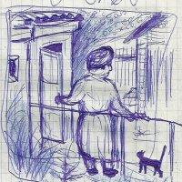 Светлана Романовна возле туалета. :: Роман Деркаченко