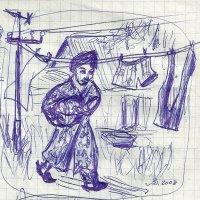 Светлана Романовна со стиранным бельём. :: Роман Деркаченко